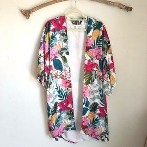 Zara Kimono in Tropical Pattern